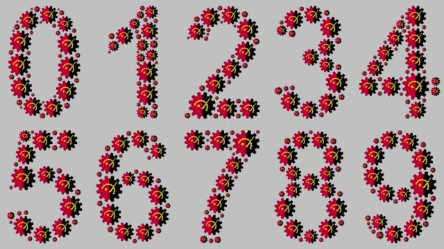 vídeos de stock e filmes b-roll de angolan numbers set - número 4