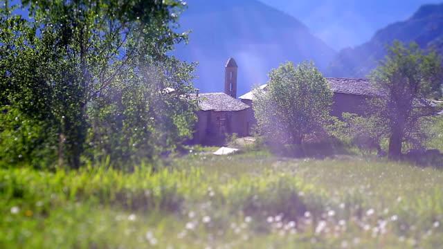 vídeos y material grabado en eventos de stock de capilla angolasters de andorra - iglesia