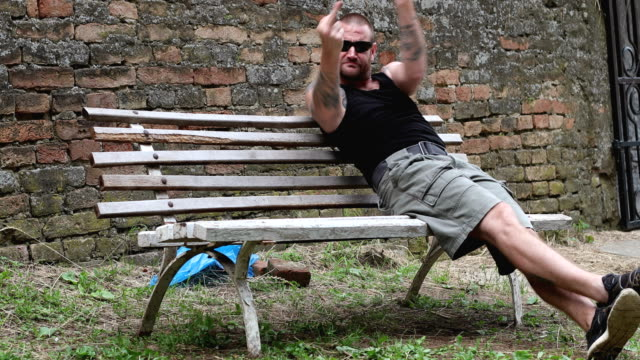 angry gang banger - gang stock videos & royalty-free footage