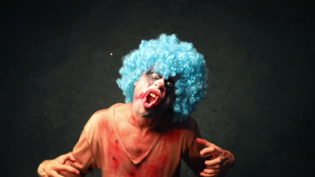 angry halloween clown - problems stock videos & royalty-free footage