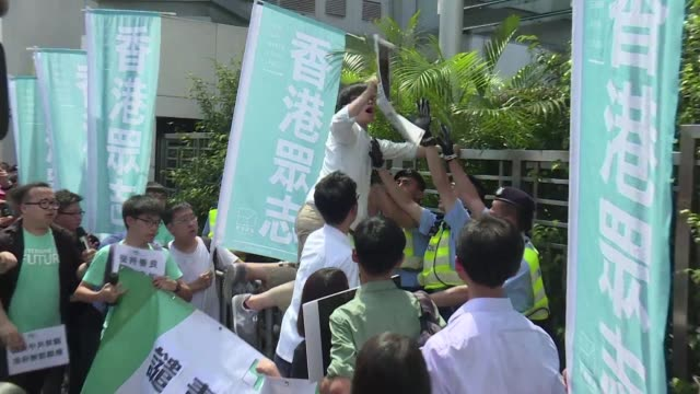 angry protesters gather in hong kong after a city bookseller broke silence to reveal how he was blindfolded interrogated and detained in china for... - bookseller stock videos and b-roll footage