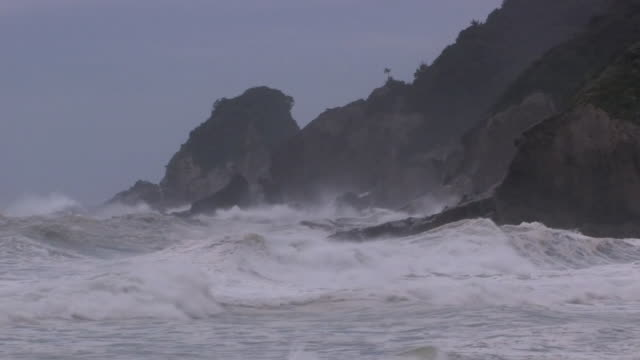 Angry Waves Against Beach, Miyazaki, Japan
