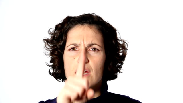 angry woman - scolding stock videos & royalty-free footage