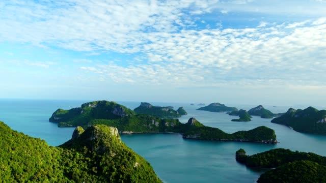 angthong islands, koh samui, suratthani, thailand - island stock videos & royalty-free footage