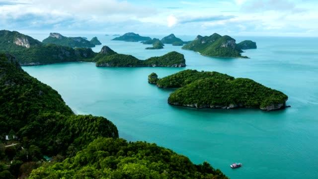angthong islands, koh samui, suratthani, thailand - ko samui stock videos and b-roll footage