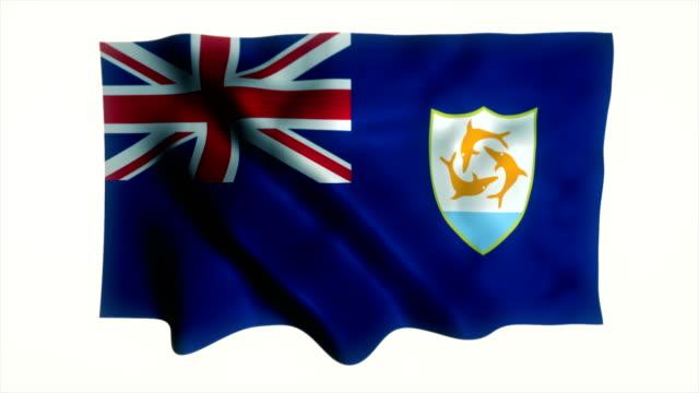 Wapperende vlag van Anguilla