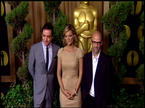 angus aynsley , lucy walker and moby at the 83rd academy awards nominations luncheon at beverly hills ca. - モービー点の映像素材/bロール