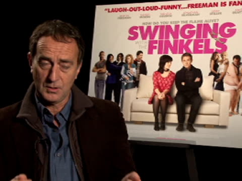angus deaton on losing humor when writing a comedy script from writers point of view at the swinging with the finkels interview at london england. - angus deayton stock videos & royalty-free footage