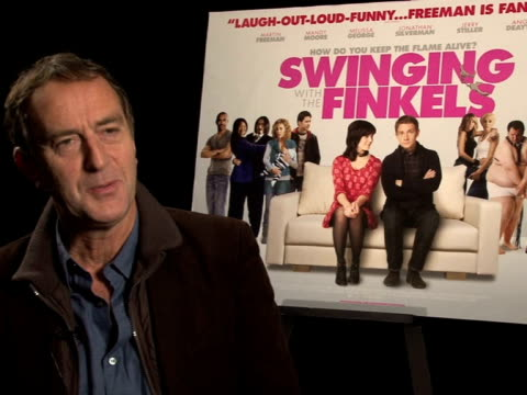 angus deaton on swinging at the swinging with the finkels interview at london england. - angus deayton stock videos & royalty-free footage