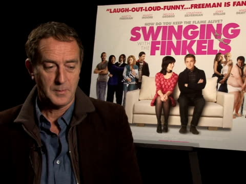 angus deaton on what he thought about the script, why he wanted to do it at the swinging with the finkels interview at london england. - angus deayton stock videos & royalty-free footage