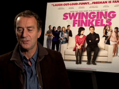 angus deaton on what it was like on set, comedy acting at the swinging with the finkels interview at london england. - angus deayton stock videos & royalty-free footage