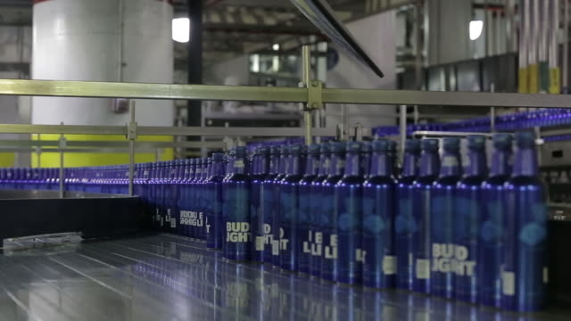 anheuserbusch brewery bottling operations in st louis missouri us on monday july 16 2018 - beer bottle stock videos & royalty-free footage