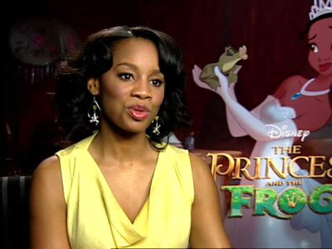anika noni rose on how there is a beauty grace and warmth in 2d animation on what she thinks of 3d animation on how fairytales are better captured in... - anmut stock-videos und b-roll-filmmaterial