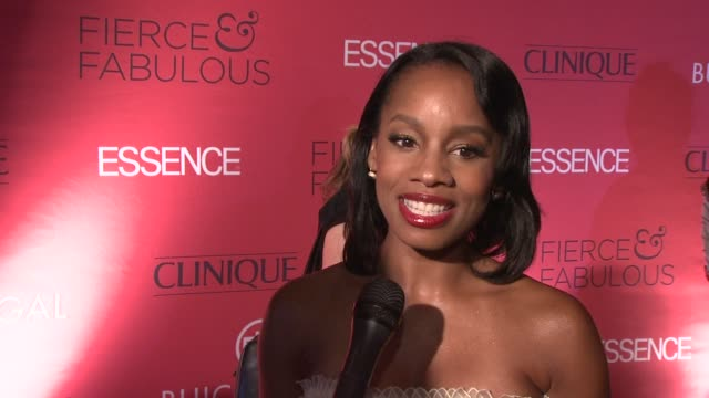 Anika Noni Rose talks about being honored at the event as fab and fierce at the Essence Magazine 40th Anniversary Fierce Fabulous Awards Luncheon at...