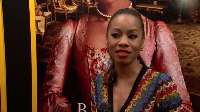 """anika noni rose talks about why she wanted to come out and support the film at """"belle"""" new york premiere arrivals at the paris theater on april 28... - paris theater manhattan stock videos and b-roll footage"""