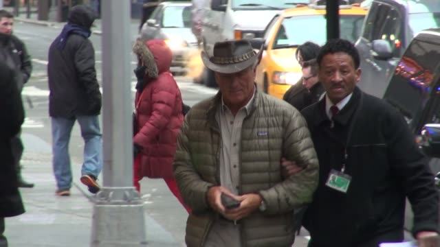 animal expert jack hanna arrives at the the good morning america show in celebrity sightings in new york, - jack hanna stock-videos und b-roll-filmmaterial