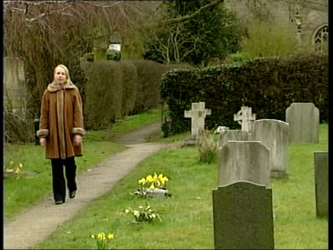 animal rights activist makes formal complaint over gladys hammond grave theft england staffordshire yoxall church seen through trees tilt down to... - animal drawn stock videos & royalty-free footage