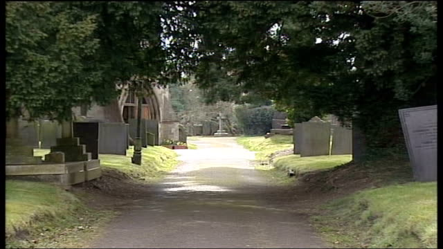 animal rights activists found guilty of grave desecration england staffordshire yoxall ext path through cemetery where grave of gladys hammond was... - temperate flower stock videos and b-roll footage