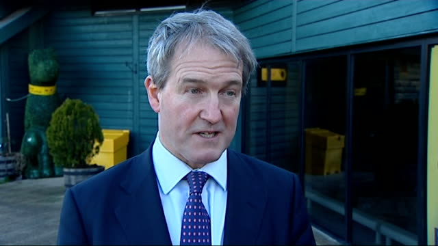 dogs in england must be microchipped from 2016 gvs dog microchipped and owen paterson interview paterson interview sot more on dogs on voting against... - owen paterson stock videos and b-roll footage