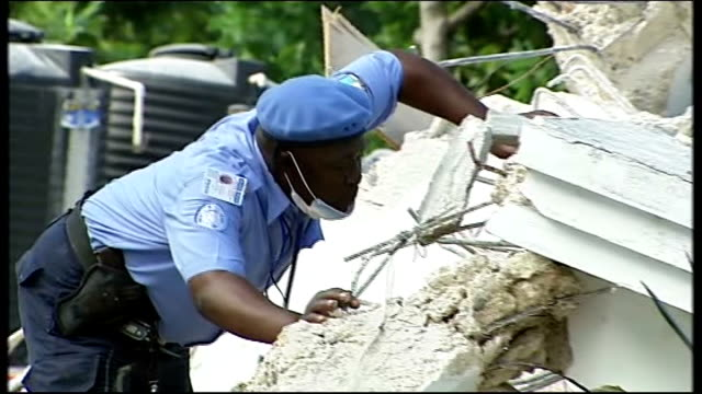 five 'hero dogs' to compete in friends for life final at crufts 2011 1912010 haiti port au prince members of search and rescue team listening in... - crufts hundezuchtschau stock-videos und b-roll-filmmaterial