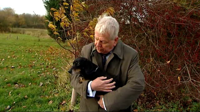 paralysed dog walks again after pioneering treatment peter hay interview sot reporter to camera holding jasper int scientist working in laboratory... - working animals stock videos & royalty-free footage