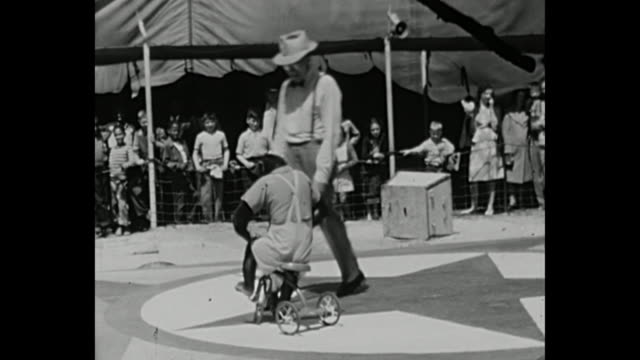 1945 - animals performances - circus stock videos & royalty-free footage