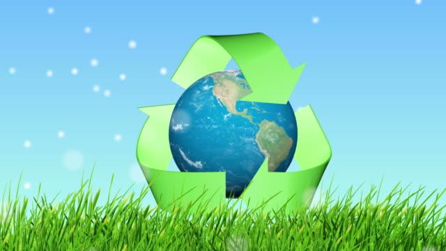 Sich noch animiert werden Recycling