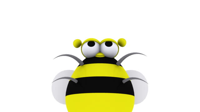 animated 3d bee flying around having fun - bumblebee stock videos & royalty-free footage