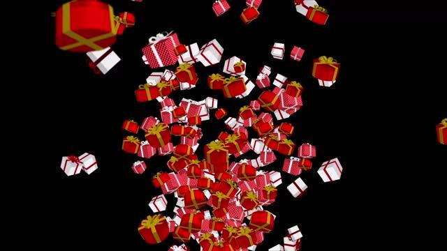 アニメーション3dクリスマスギフトボックス、ループ可能(シリーズ) - 美術工芸品点の映像素材/bロール