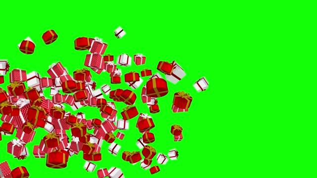 animierte 3d weihnachten geschenk-boxen, loopable (serie) - weihnachtsmann stock-videos und b-roll-filmmaterial