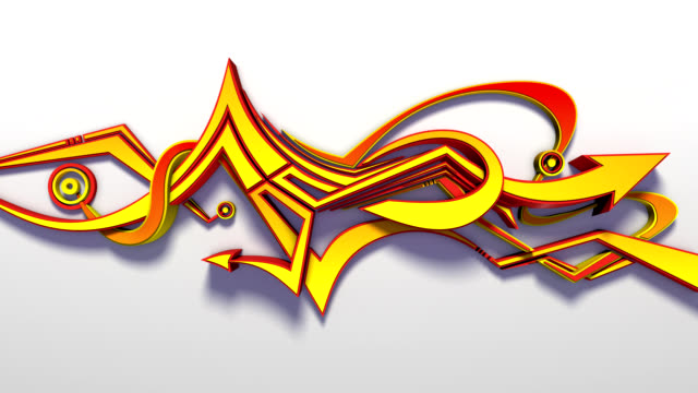 animated 3d graffiti - graffiti stock videos & royalty-free footage