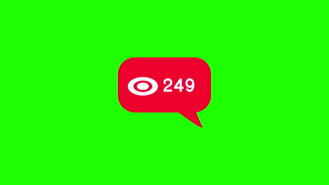 Animated - A modern random number like a white icon on a red background: A 4K green screen video.