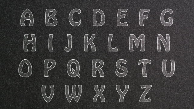 Animated Alphabet on Blackboard