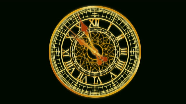animated antique clock counting down. happy new year - antique stock videos & royalty-free footage