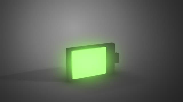 vidéos et rushes de chargement de la batterie animée - batterie