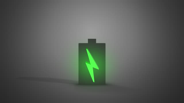 Animated Battery Charging with Symbols