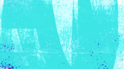 vídeos y material grabado en eventos de stock de animada azul y rosa grunge con cepillo lleno de golpes - técnica de textura grunge