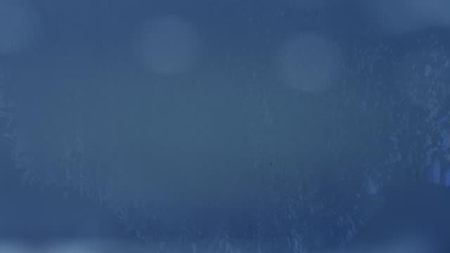vídeos y material grabado en eventos de stock de fondo azul animado con escarcha - azul oscuro