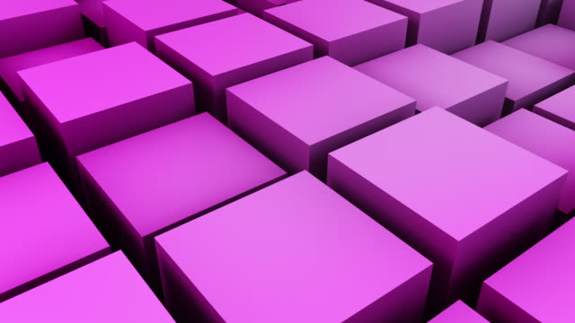 animated boxes loop - pink (full hd) - softness stock videos & royalty-free footage