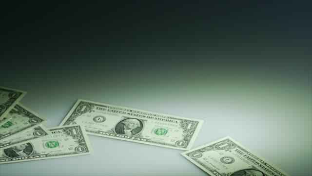 animated brand new us one dollar bill - einige gegenstände mittelgroße ansammlung stock-videos und b-roll-filmmaterial