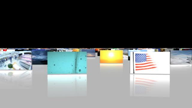 vídeos de stock e filmes b-roll de animado câmara em chromakey em branco - painel de cristal líquido
