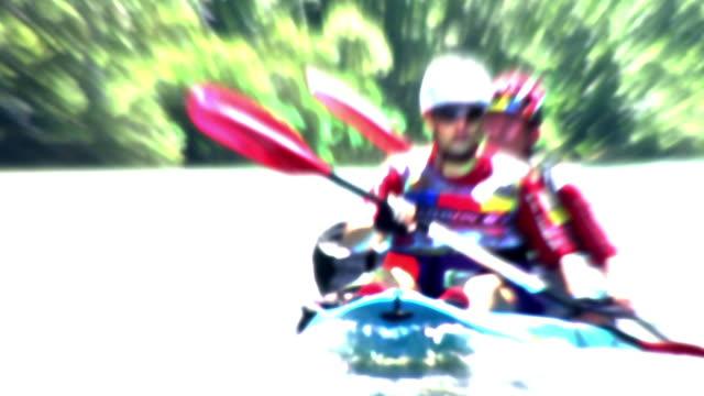hd: animated canoeists - digital enhancement stock videos & royalty-free footage