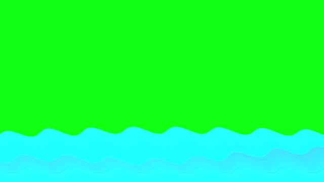 animated cartoon wave background - wave stock videos & royalty-free footage