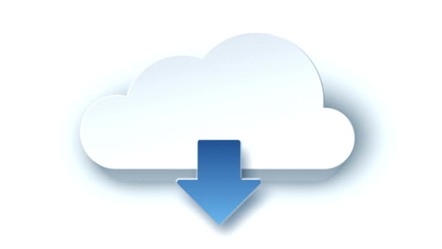 Animated cloud icon. White version.
