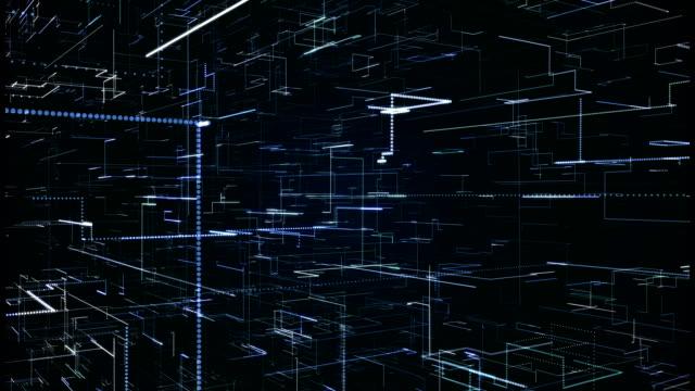 cg アニメーション - 4 k 解像度のデジタル データ画面 - 空白点の映像素材/bロール