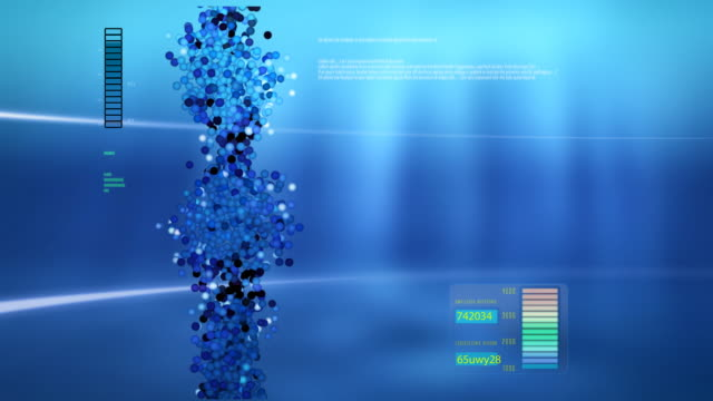 animated dna chain for computer screen. - separating laboratory stock videos and b-roll footage