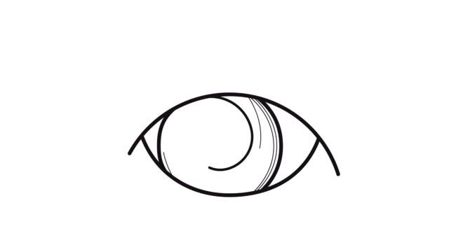 アニメーションの目 - らせん点の映像素材/bロール