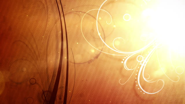 animated flourishes background loop - deep orange hd - floral pattern stock videos and b-roll footage