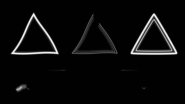 4k animerade geometriska former-2d effekter-alfakanal - visuellt hjälpmedel bildbanksvideor och videomaterial från bakom kulisserna
