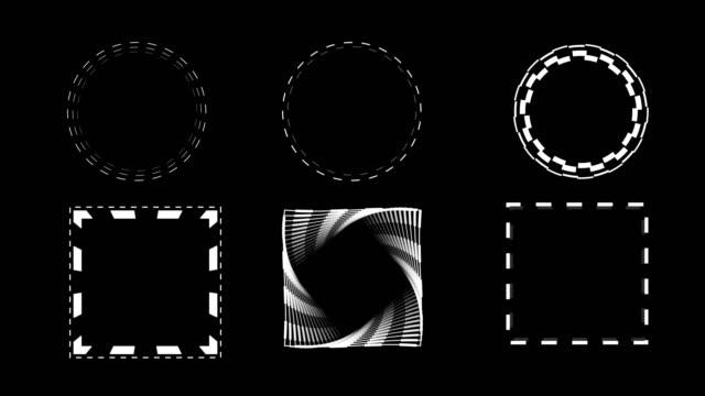 vidéos et rushes de 4k animated geometric shapes - 2d effects - alpha channel - interface utilisateur graphique